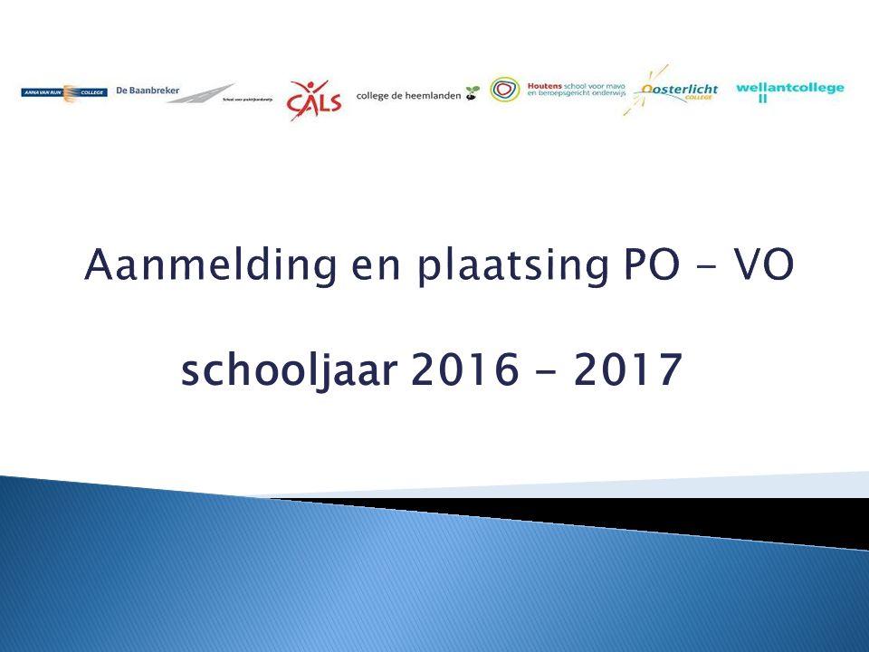 schooljaar 2016 - 2017