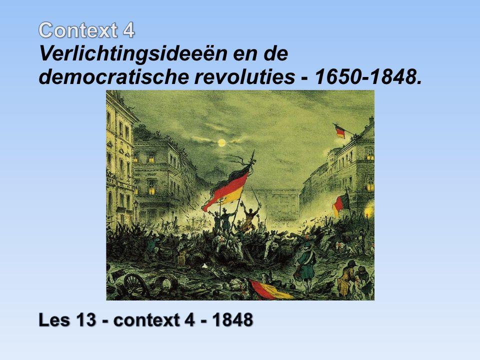 30De democratische revoluties in westerse landen met als gevolg discussies over grondwetten, grondrechten en staatsburgerschap 36De opkomst van de politiek-maatschappelijke stromingen: liberalisme, nationalisme, socialisme, confessionalisme en feminisme Voorbeelden stofomschrijving Frankfurter Parlement (30 & 36)