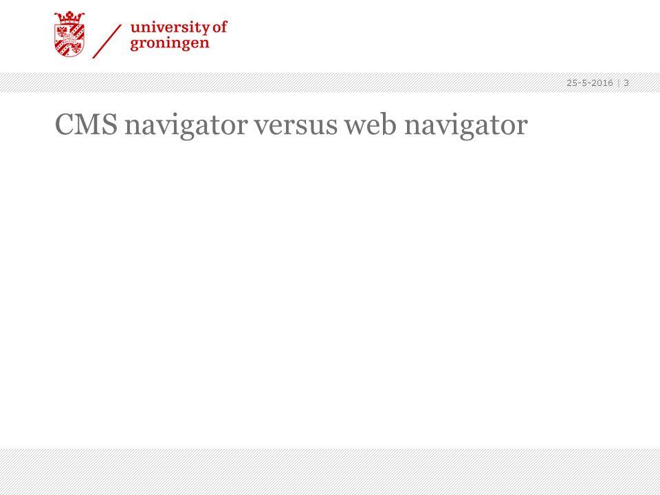 25-5-2016   4 Web navigator: hier staan alle mapjes die gepubliceerd staan onder www.rug.nlwww.rug.nl Bijvoorbeeld mapje fwn is www.rug.nl/fwn Alle url's op het web kun je via deze mappenstructuur opzoeken.