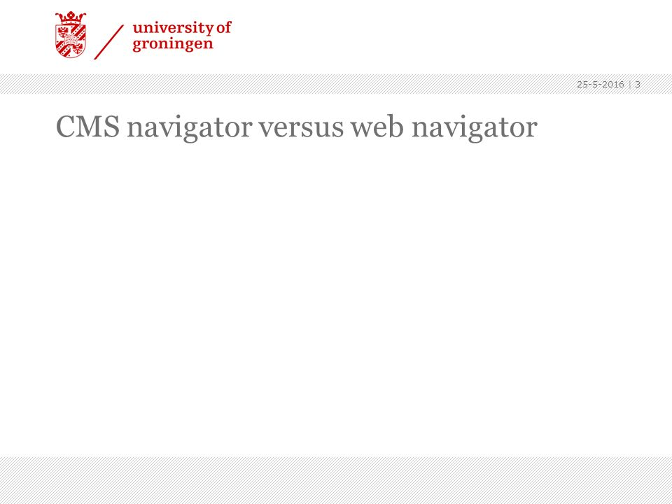CMS navigator versus web navigator 25-5-2016 | 3