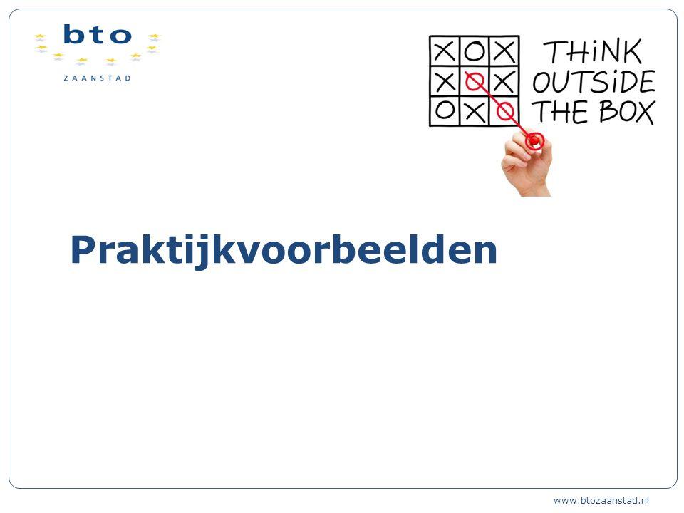 Praktijkvoorbeelden www.btozaanstad.nl