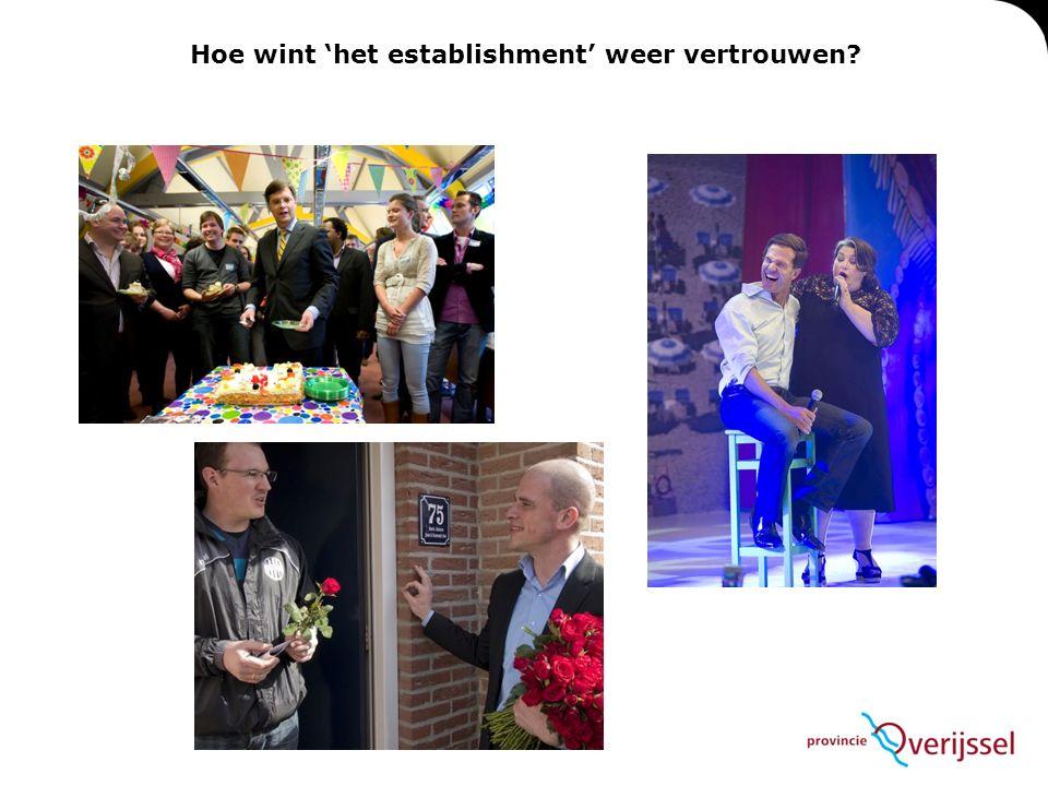 Hoe wint 'het establishment' weer vertrouwen?