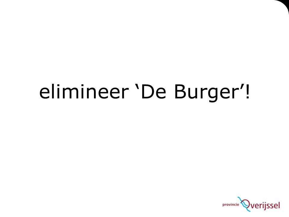 elimineer 'De Burger'!