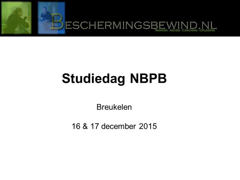 Studiedag NBPB Breukelen 16 & 17 december 2015