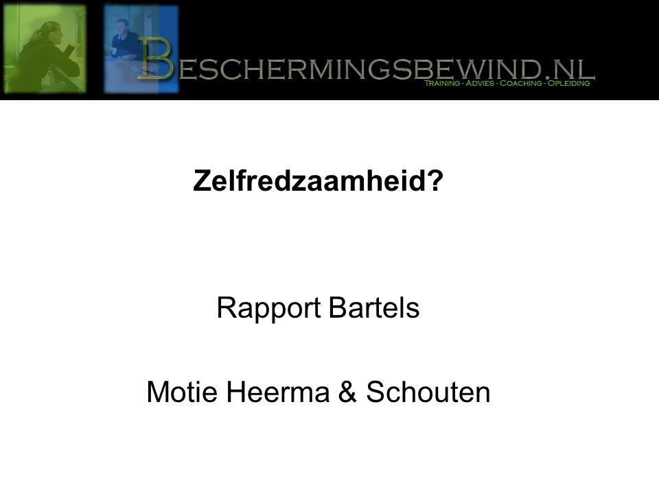 Zelfredzaamheid Rapport Bartels Motie Heerma & Schouten