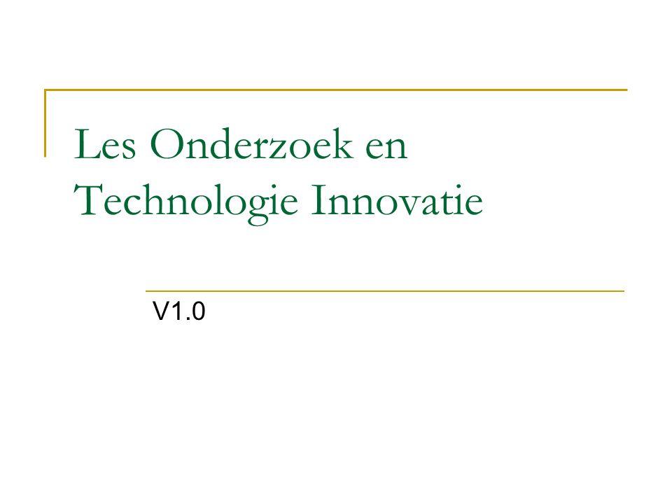 Les Onderzoek en Technologie Innovatie V1.0