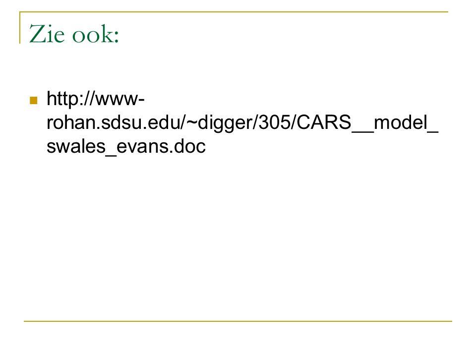 Zie ook: http://www- rohan.sdsu.edu/~digger/305/CARS__model_ swales_evans.doc