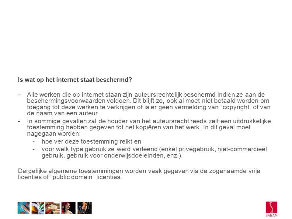 Is wat op het internet staat beschermd.