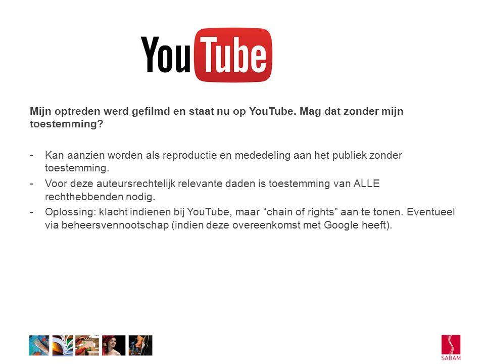 Mijn optreden werd gefilmd en staat nu op YouTube.