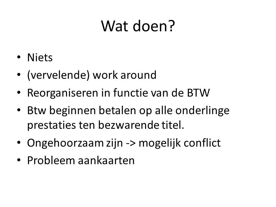 Conclusies Wat doen? Globale aanpak? Denk aan de houdbaarheid