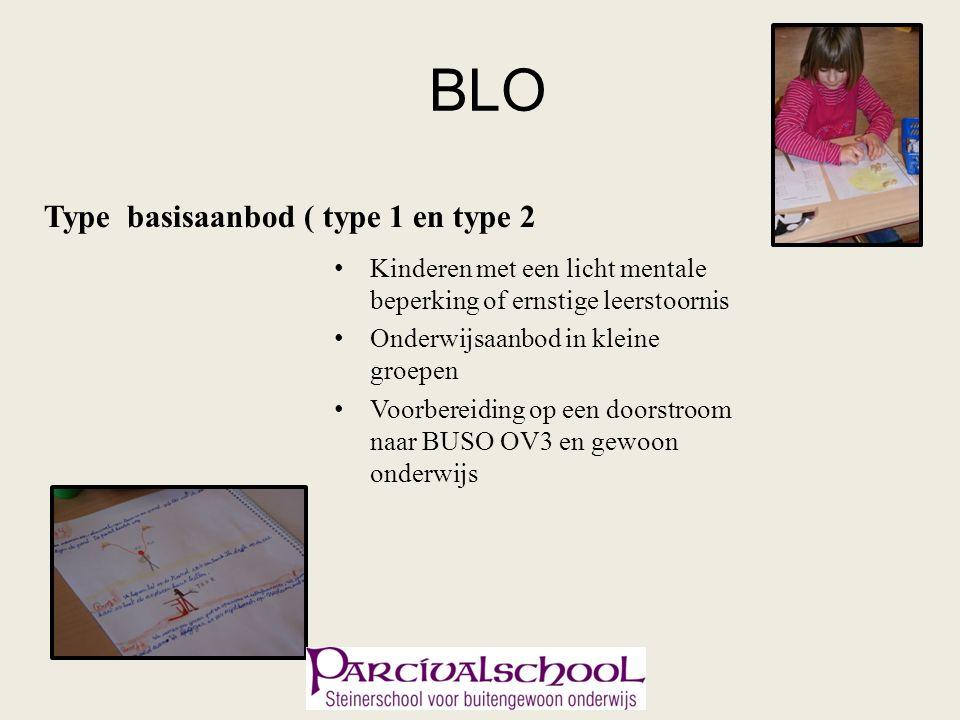 BLO Type basisaanbod ( type 1 en type 2 Kinderen met een licht mentale beperking of ernstige leerstoornis Onderwijsaanbod in kleine groepen Voorbereiding op een doorstroom naar BUSO OV3 en gewoon onderwijs