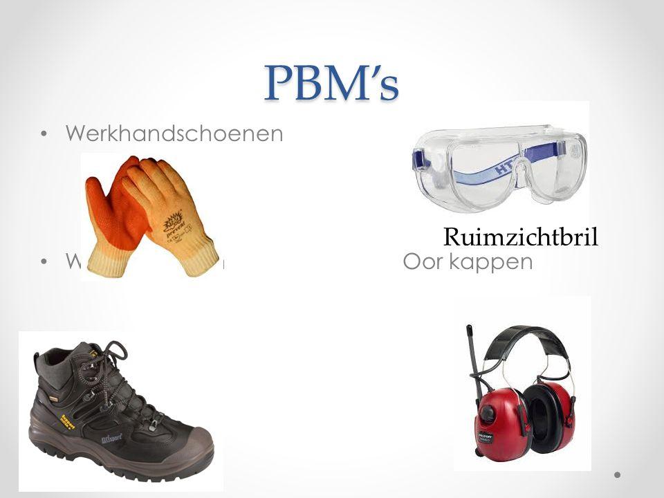 PBM's Werkhandschoenen Werkschoenen Oor kappen Ruimzichtbril