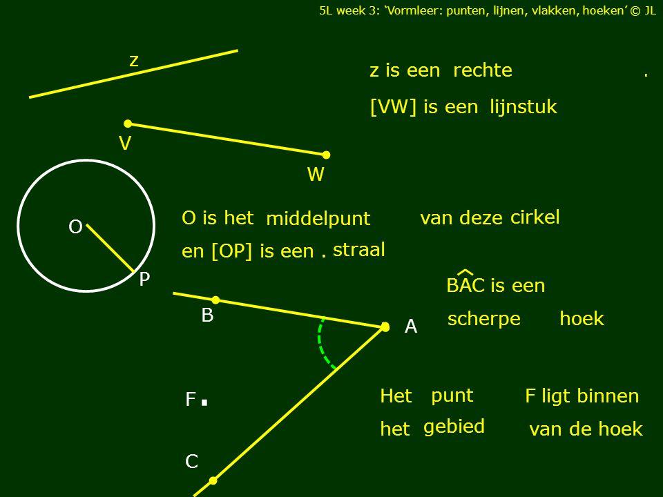 5L week 3: 'Vormleer: punten, lijnen, vlakken, hoeken' M L K X.