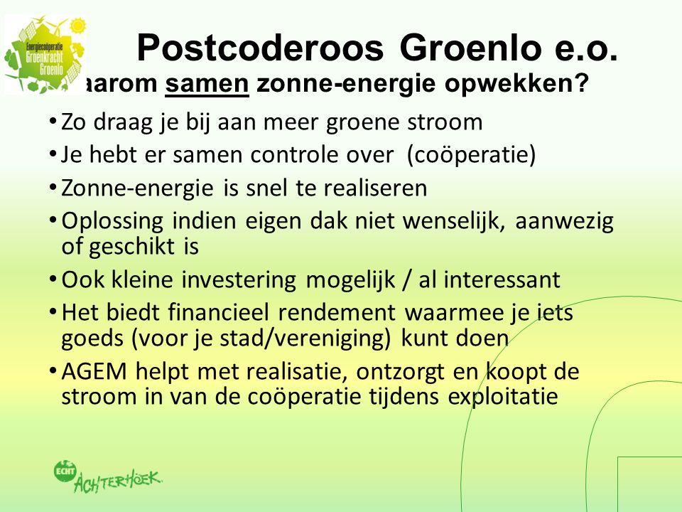 Postcoderoos Groenlo e.o. Waarom samen zonne-energie opwekken.