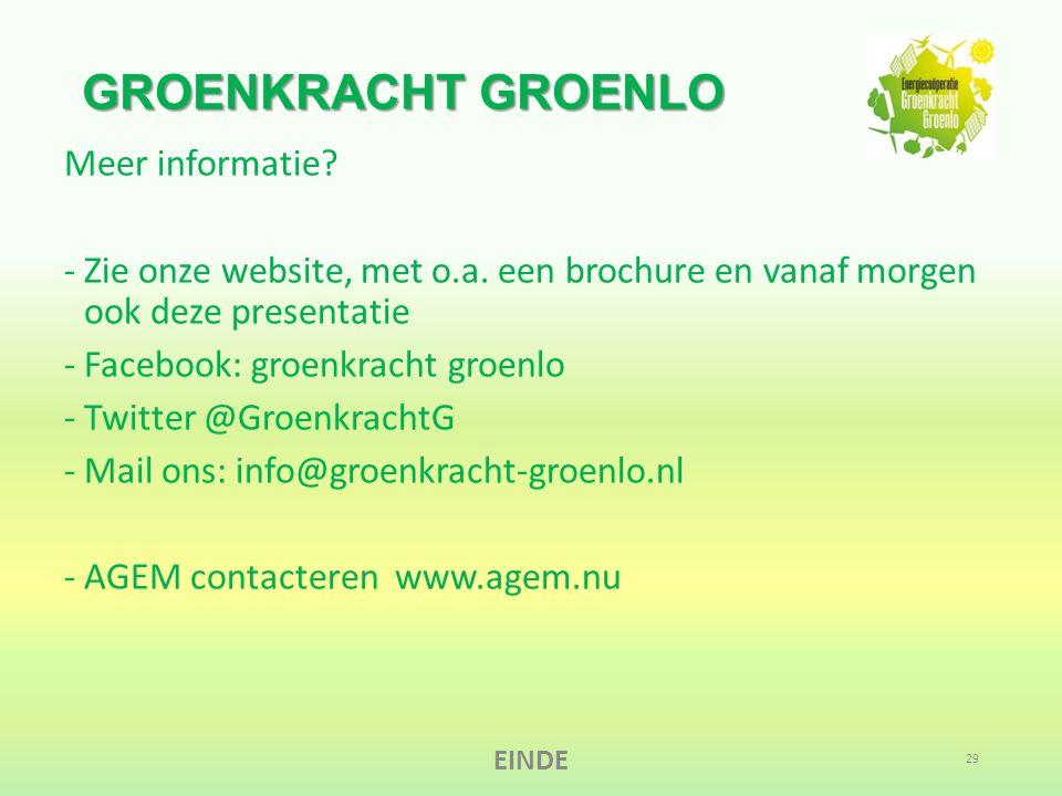GROENKRACHT GROENLO Meer informatie. -Zie onze website, met o.a.