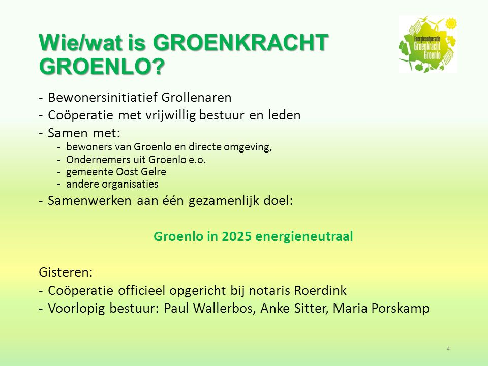 Waarom zetten we ons in voor een energieneutraal Groenlo.
