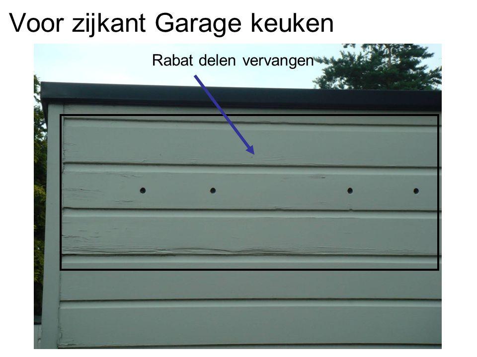 Voor zijkant Garage keuken Rabat delen vervangen