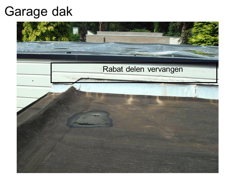 Garage dak Rabat delen vervangen