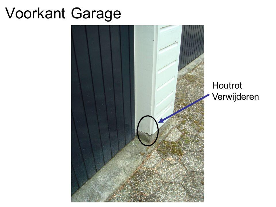 Voorkant Garage Houtrot Verwijderen