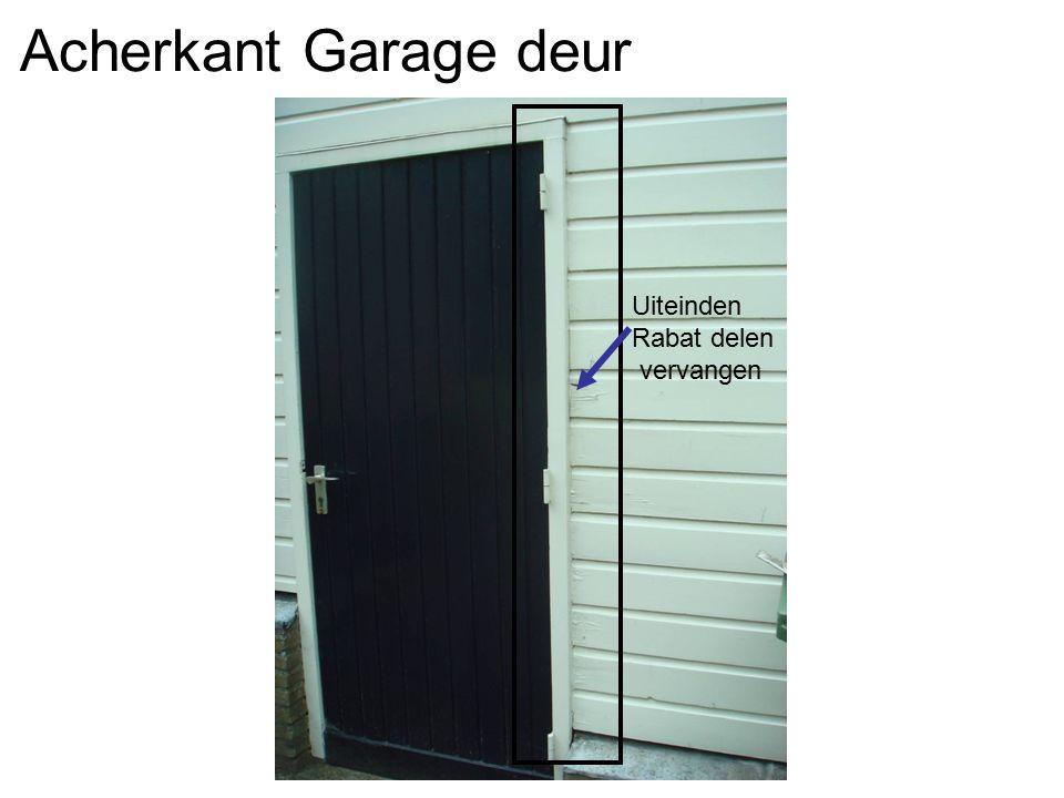 Acherkant Garage deur Uiteinden Rabat delen vervangen