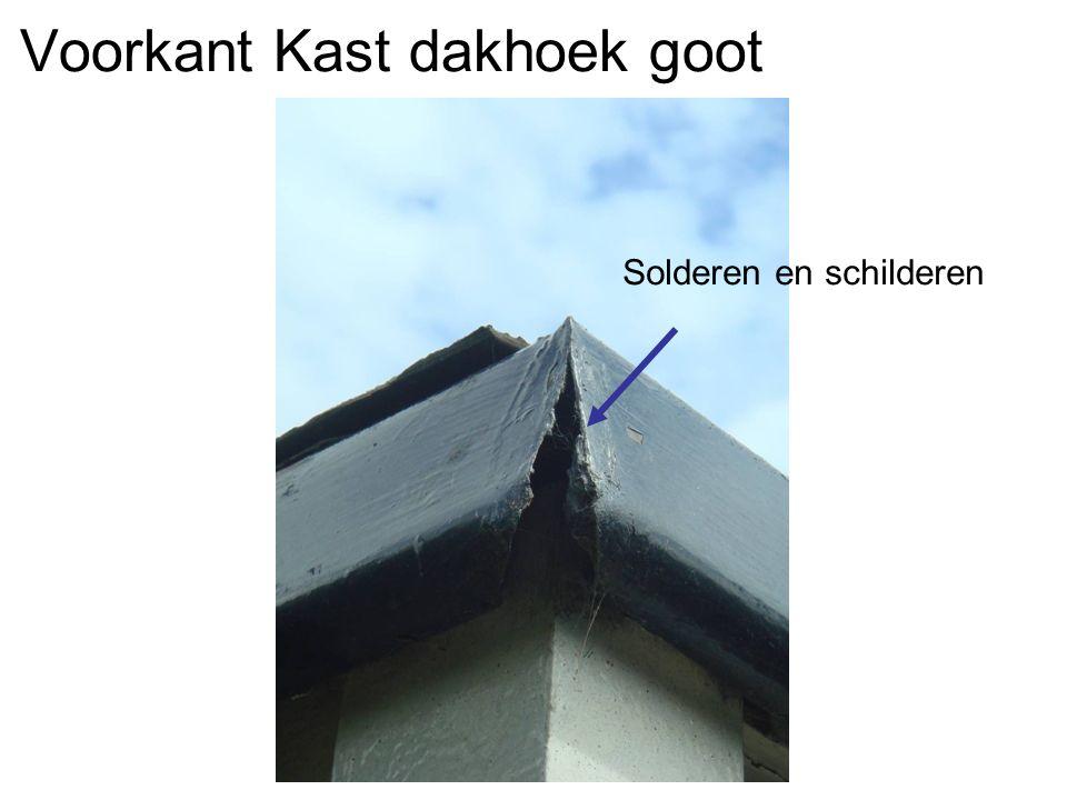 Voorkant Kast dakhoek goot Solderen en schilderen