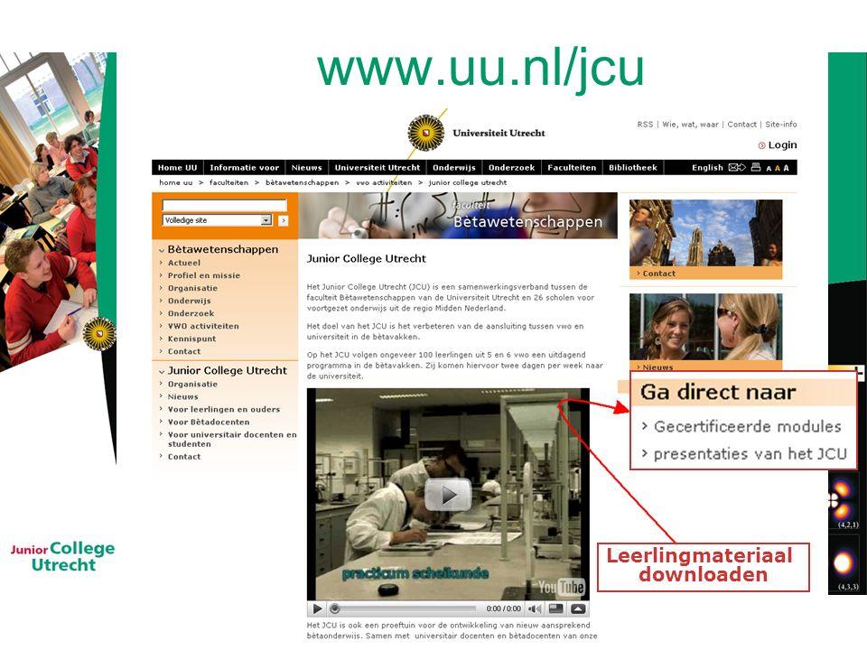 www.uu.nl/jcu Leerlingmateriaal downloaden