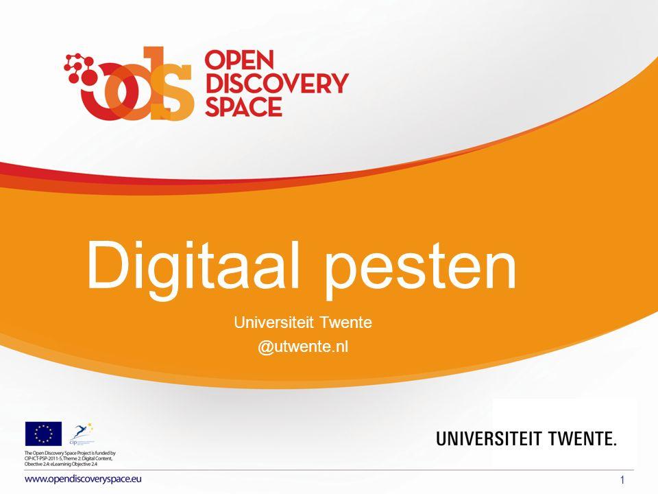 PARTNER LOGO Digitaal pesten 1 Universiteit Twente @utwente.nl