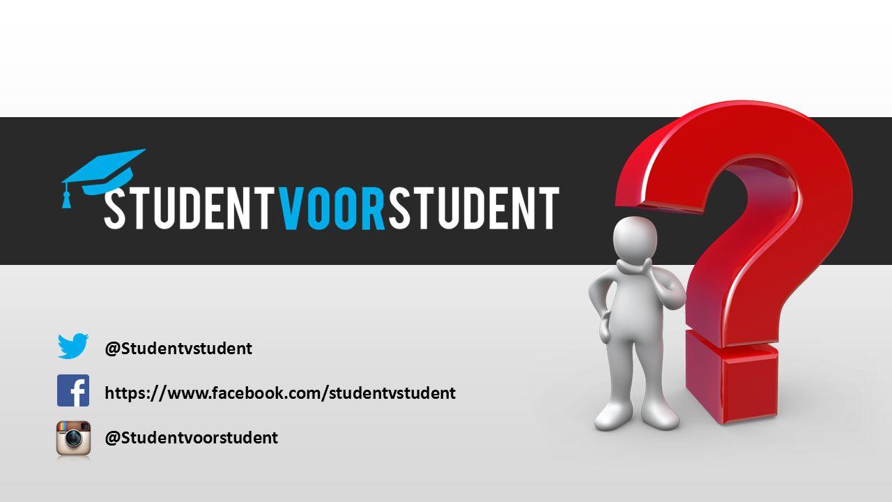 @Studentvstudent https://www.facebook.com/studentvstudent @Studentvoorstudent
