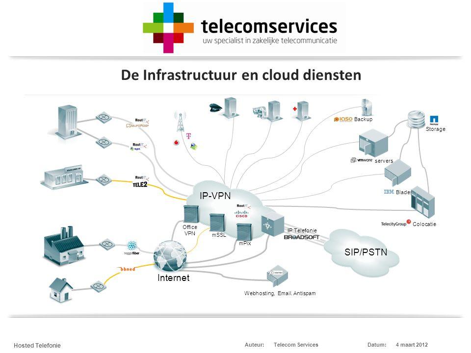 Telecom Services Hosted Telefonie Datum:4 maart 2012Auteur: De globale markt: 'bel' technieken veranderen Cloud Computing Cloud Diensten
