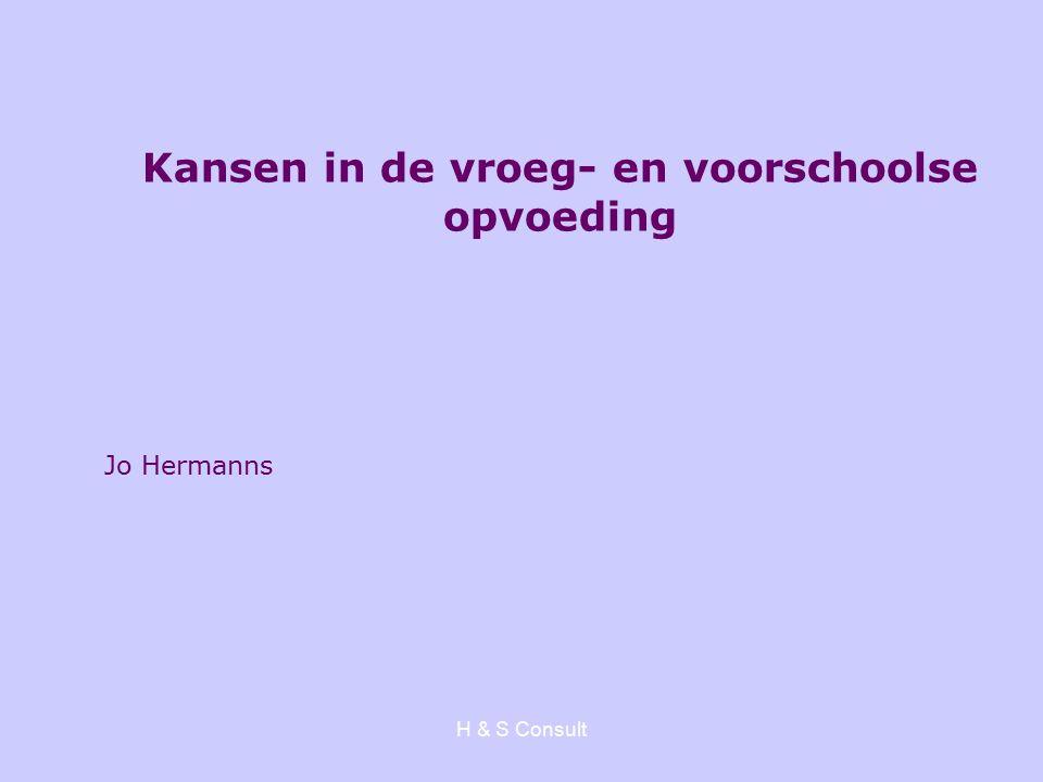 H & S Consult Jo Hermanns Kansen in de vroeg- en voorschoolse opvoeding
