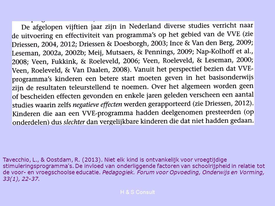 H & S Consult Tavecchio, L., & Oostdam, R. (2013).