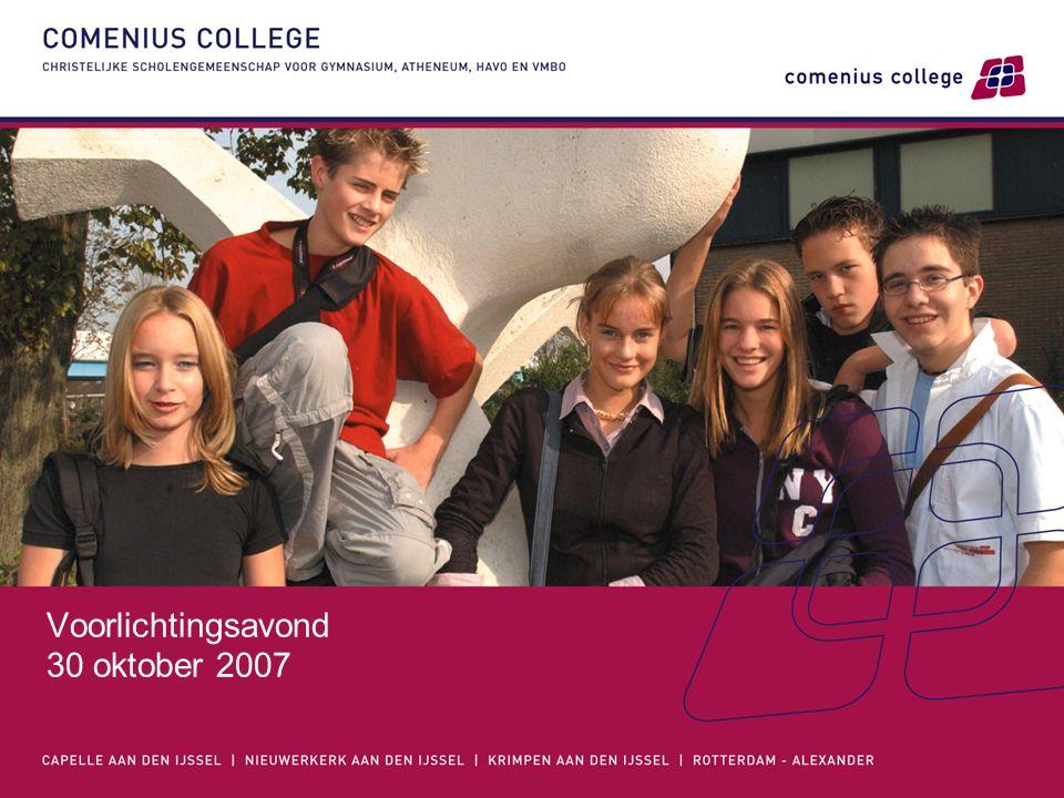 Voorlichtingsavond 30 oktober 2007