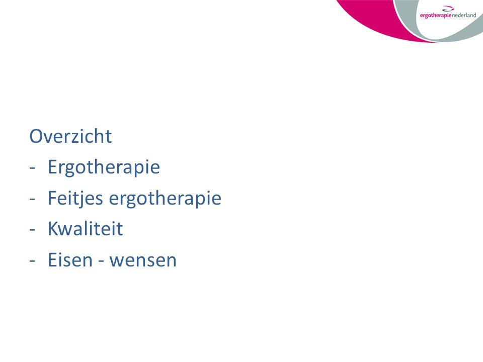 Overzicht -Ergotherapie -Feitjes ergotherapie -Kwaliteit -Eisen - wensen