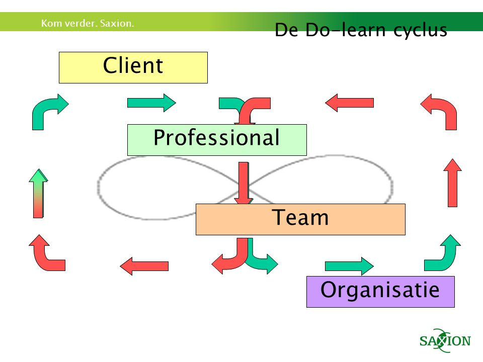 De Do-learn cyclus Client Professional Organisatie Team