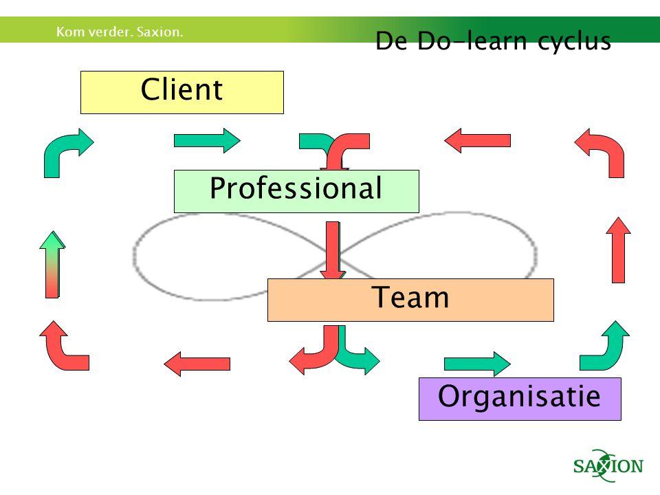 De Do-learn cyclus Client Professional Organisatie Team