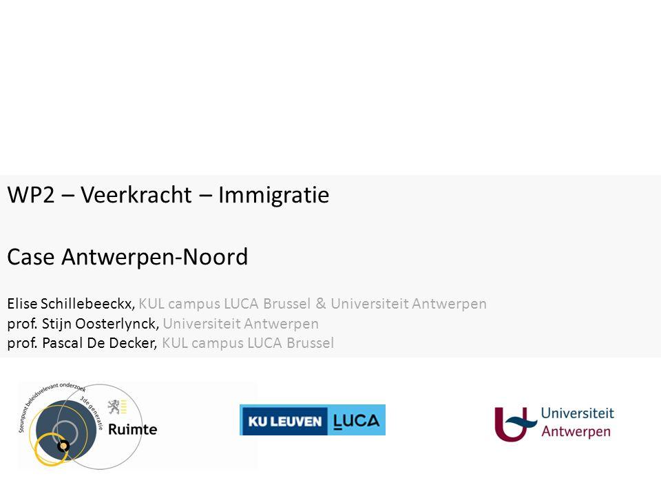 WP2 – Veerkracht – Immigratie Case Antwerpen-Noord Elise Schillebeeckx, KUL campus LUCA Brussel & Universiteit Antwerpen prof.