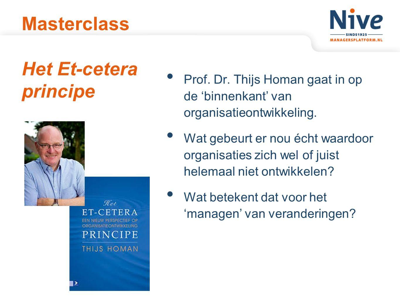 Masterclass Het Et-cetera principe Prof.Dr.