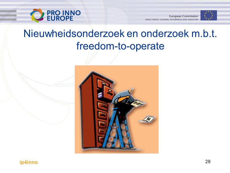 ip4inno 29 Nieuwheidsonderzoek en onderzoek m.b.t. freedom-to-operate