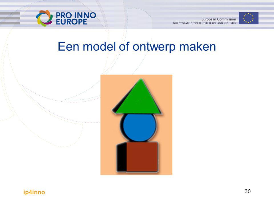 ip4inno 30 Een model of ontwerp maken