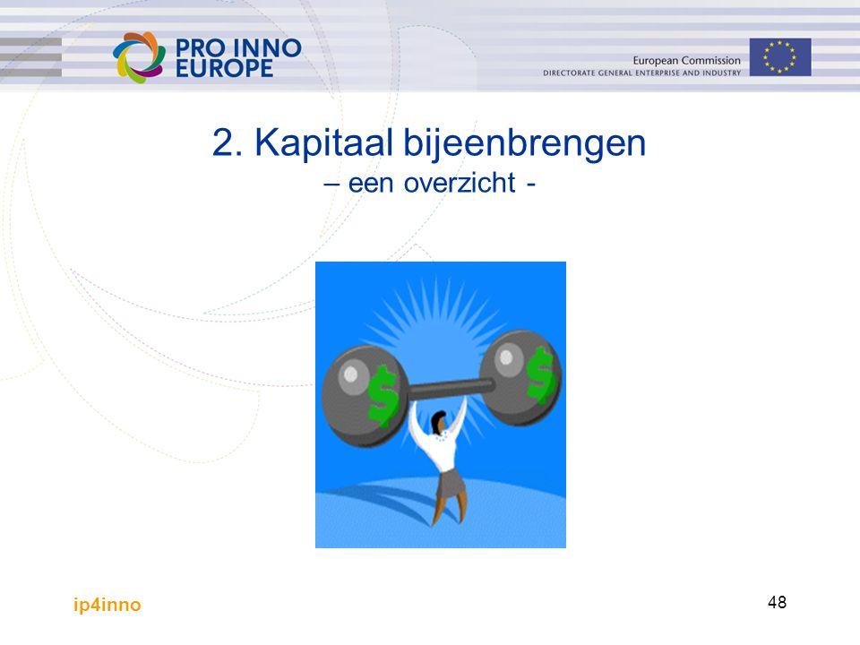 ip4inno 48 2. Kapitaal bijeenbrengen – een overzicht -