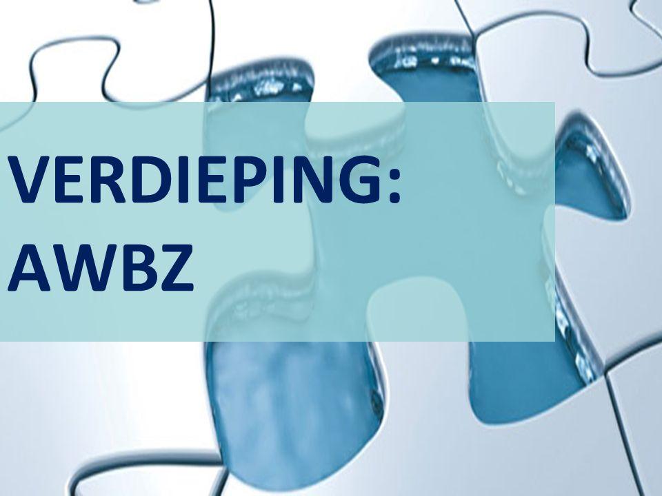 VERDIEPING: AWBZ