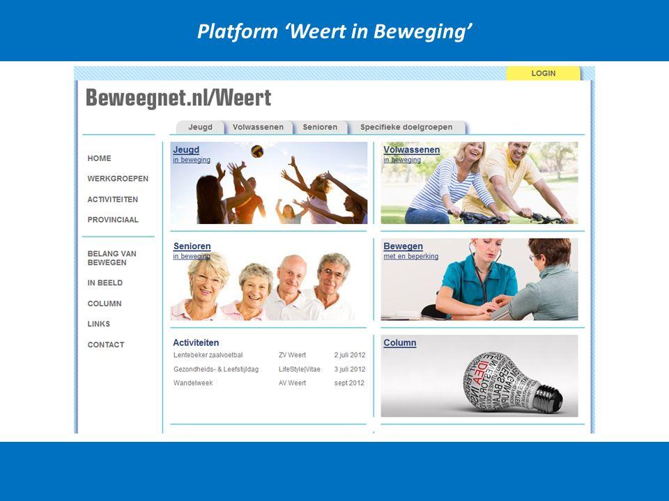 Platform 'Weert in Beweging'