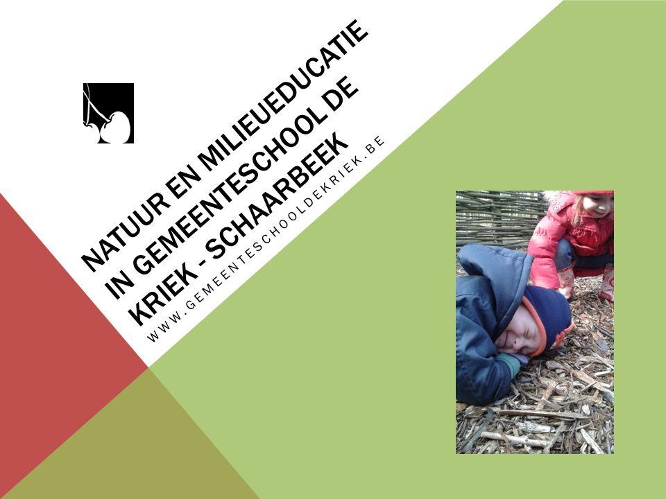 NATUUR EN MILIEUEDUCATIE IN GEMEENTESCHOOL DE KRIEK - SCHAARBEEK WWW.GEMEENTESCHOOLDEKRIEK.BE