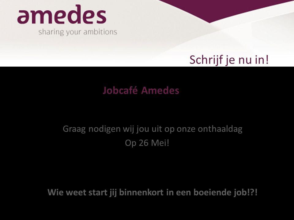Dan zien we je graag op 26 mei! Het Amedes-team Ben jij ons ontbrekende puzzelstuk?