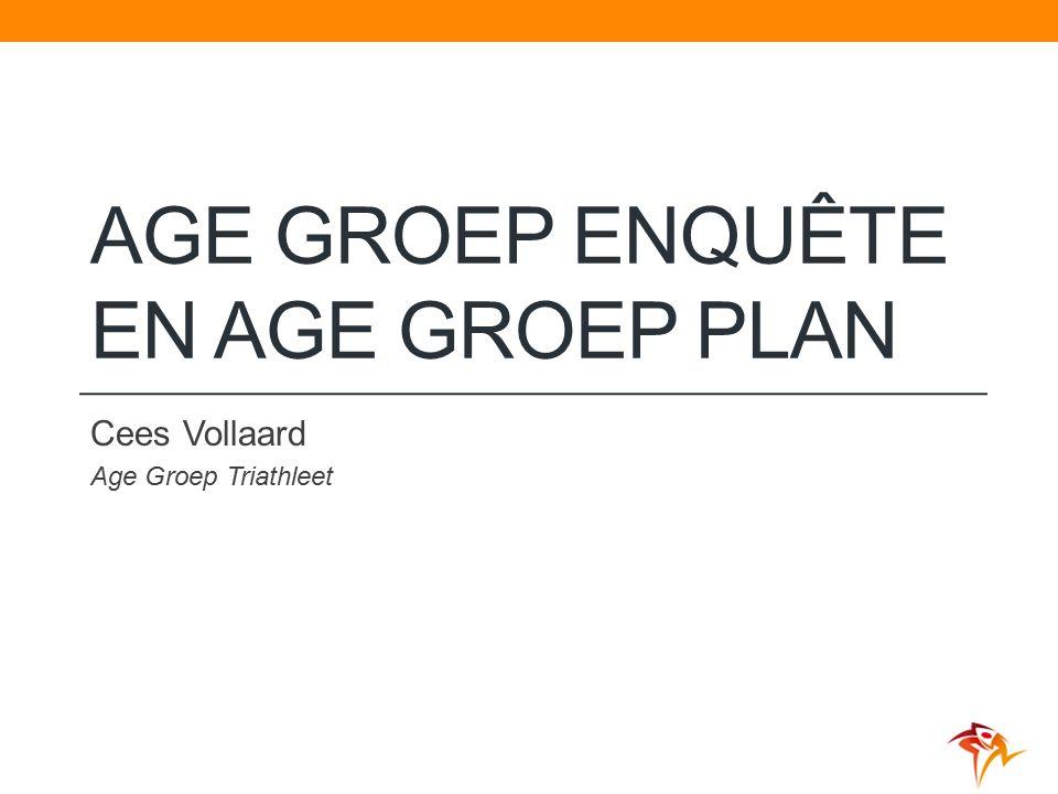 AGE GROEP ENQUÊTE EN AGE GROEP PLAN Cees Vollaard Age Groep Triathleet