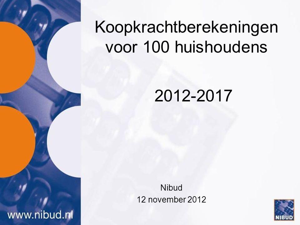 Koopkrachtberekeningen voor 100 huishoudens Nibud 12 november 2012 2012-2017