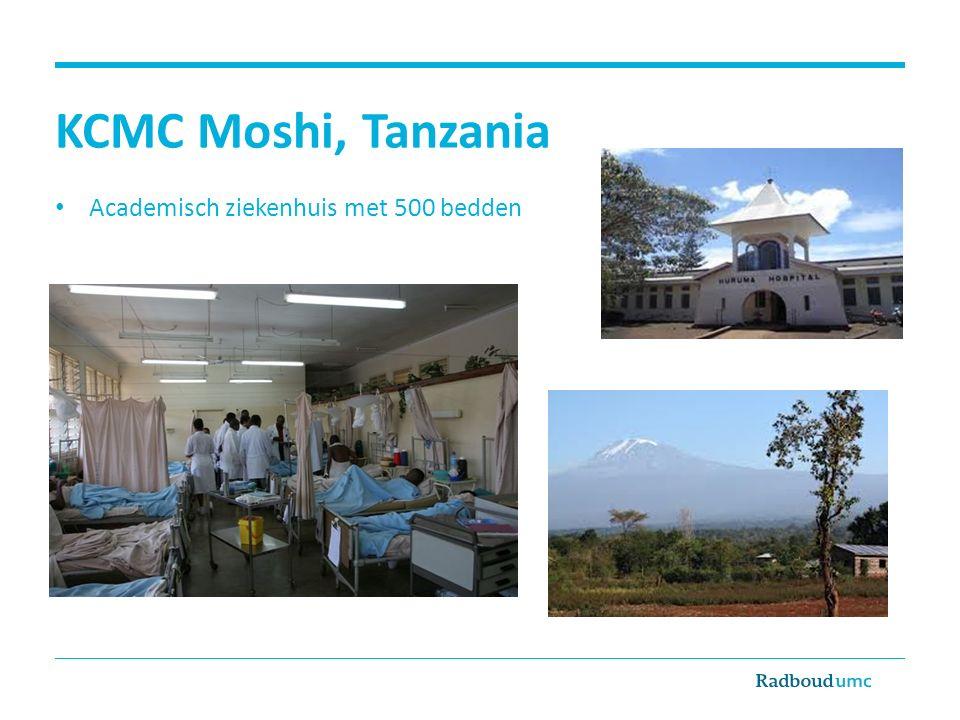 KCMC Moshi, Tanzania Academisch ziekenhuis met 500 bedden