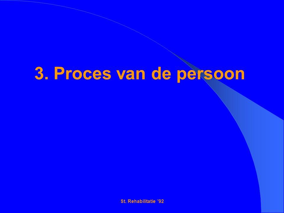 St. Rehabilitatie 92 3. Proces van de persoon