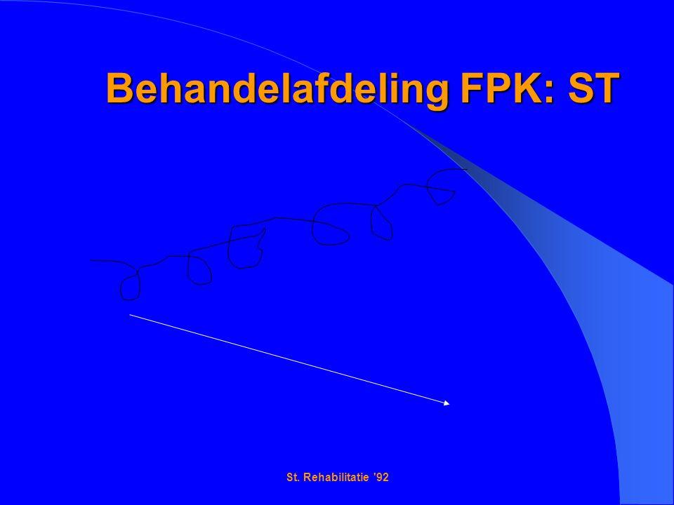 St. Rehabilitatie 92 Behandelafdeling FPK: ST Behandelafdeling FPK: ST