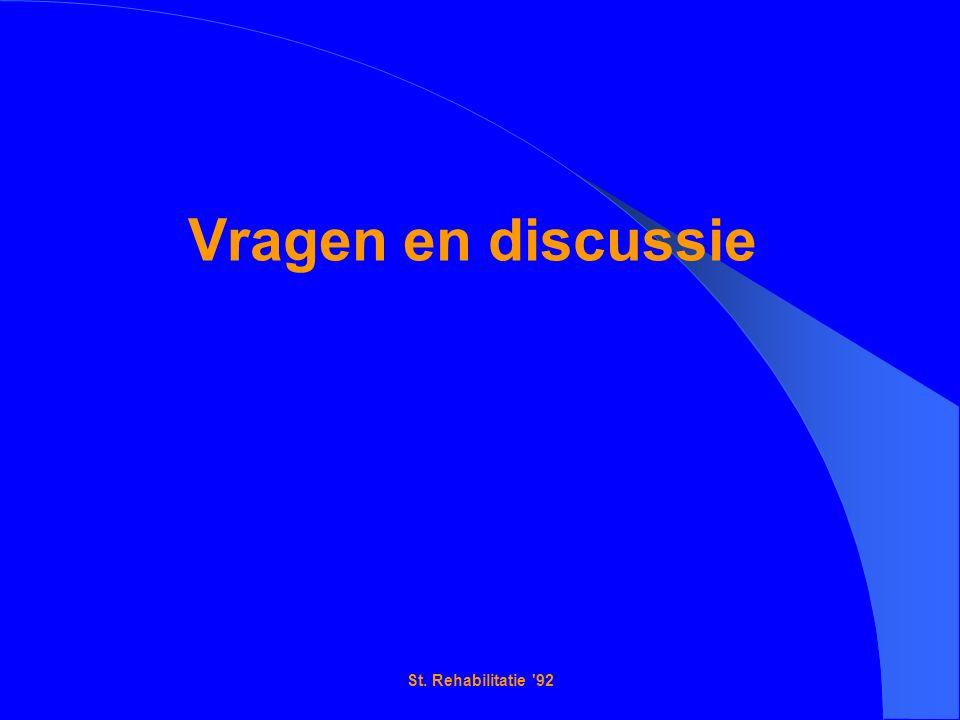 St. Rehabilitatie 92 Vragen en discussie